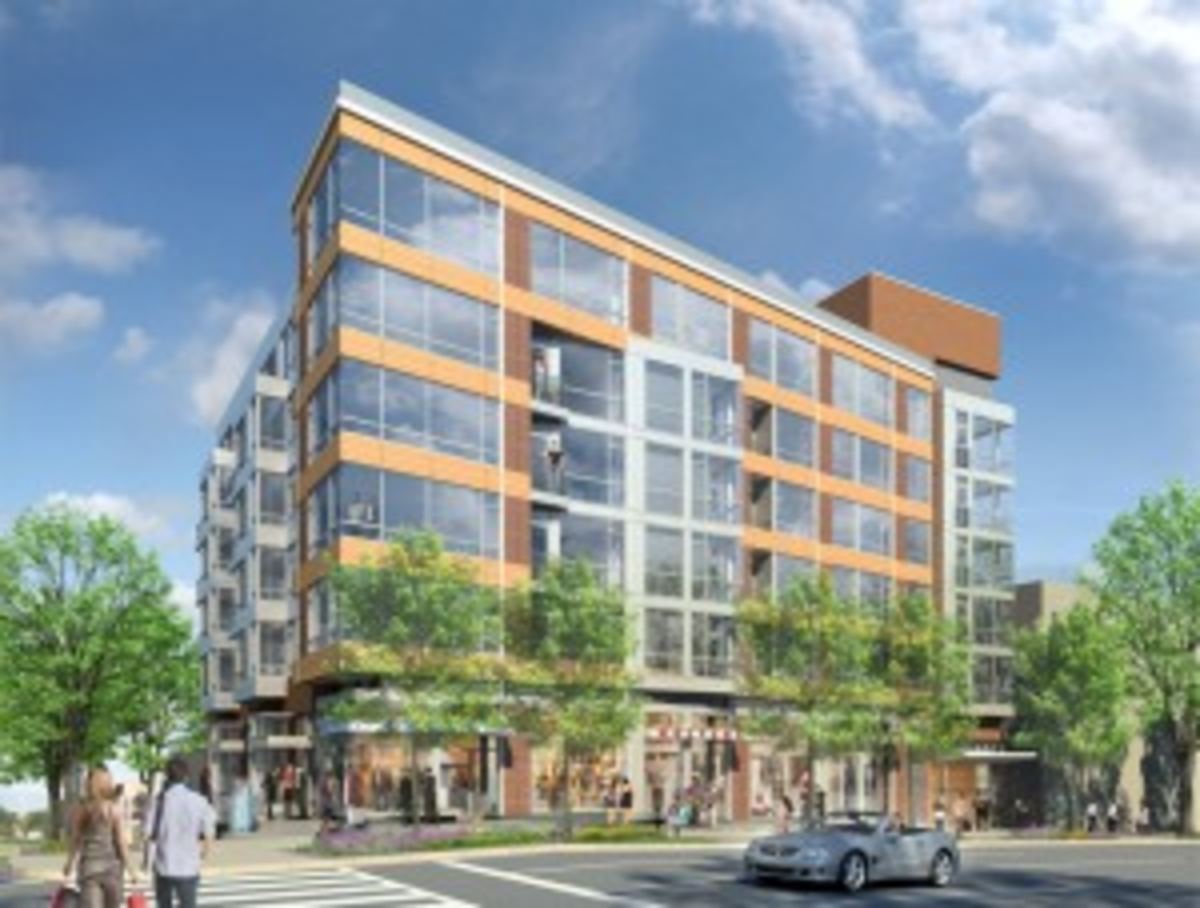 The zoning update would allow for more new buildings with limited parking, if not quite the zero parking spaces planned for this Tenleytown building.