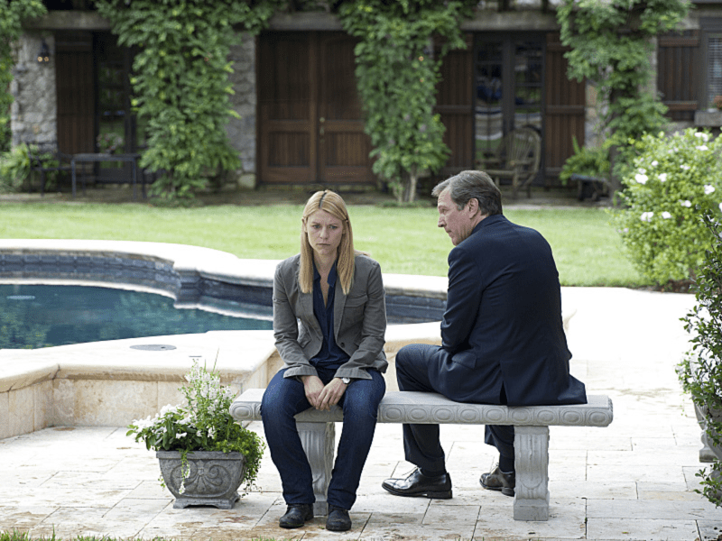 Claire Danes as Carrie Mathison and Martin Donovan as Leland Bennett in Homeland (Season 3, Episode 4). - Photo:  Kent Smith/SHOWTIME - Photo ID:  homeland_304_0831.R