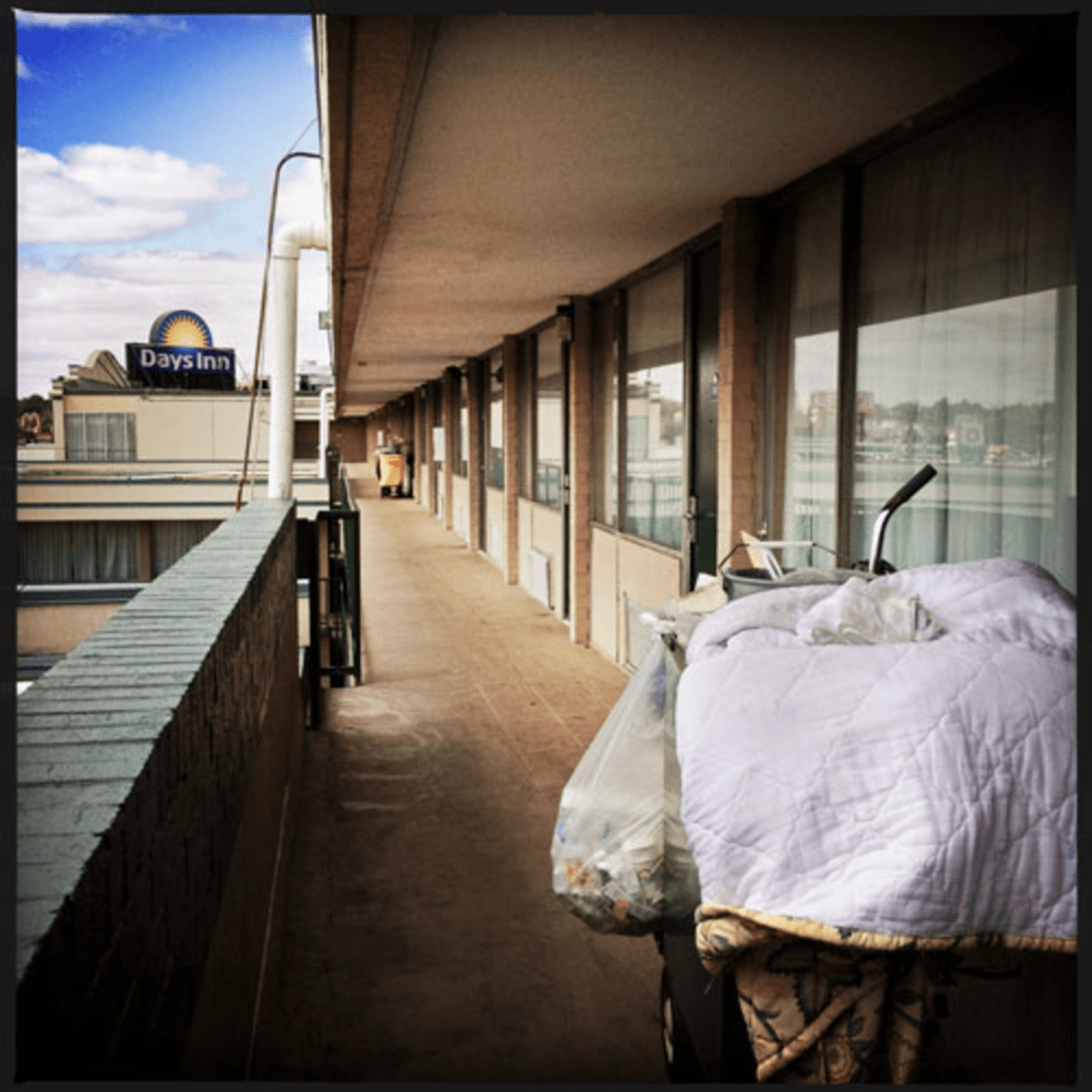 Its shelters overwhelmed, the city has been forced to house homeless families at motels like the Days Inn on New York Avenue NE.