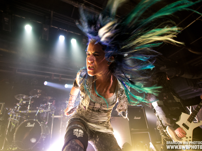 BALTIMORE, MD: Arch Enemy performs a tour-opening show at Baltimore Soundstage. October 24, 2014. ? Brandon Wu / for the Washington City Paper.