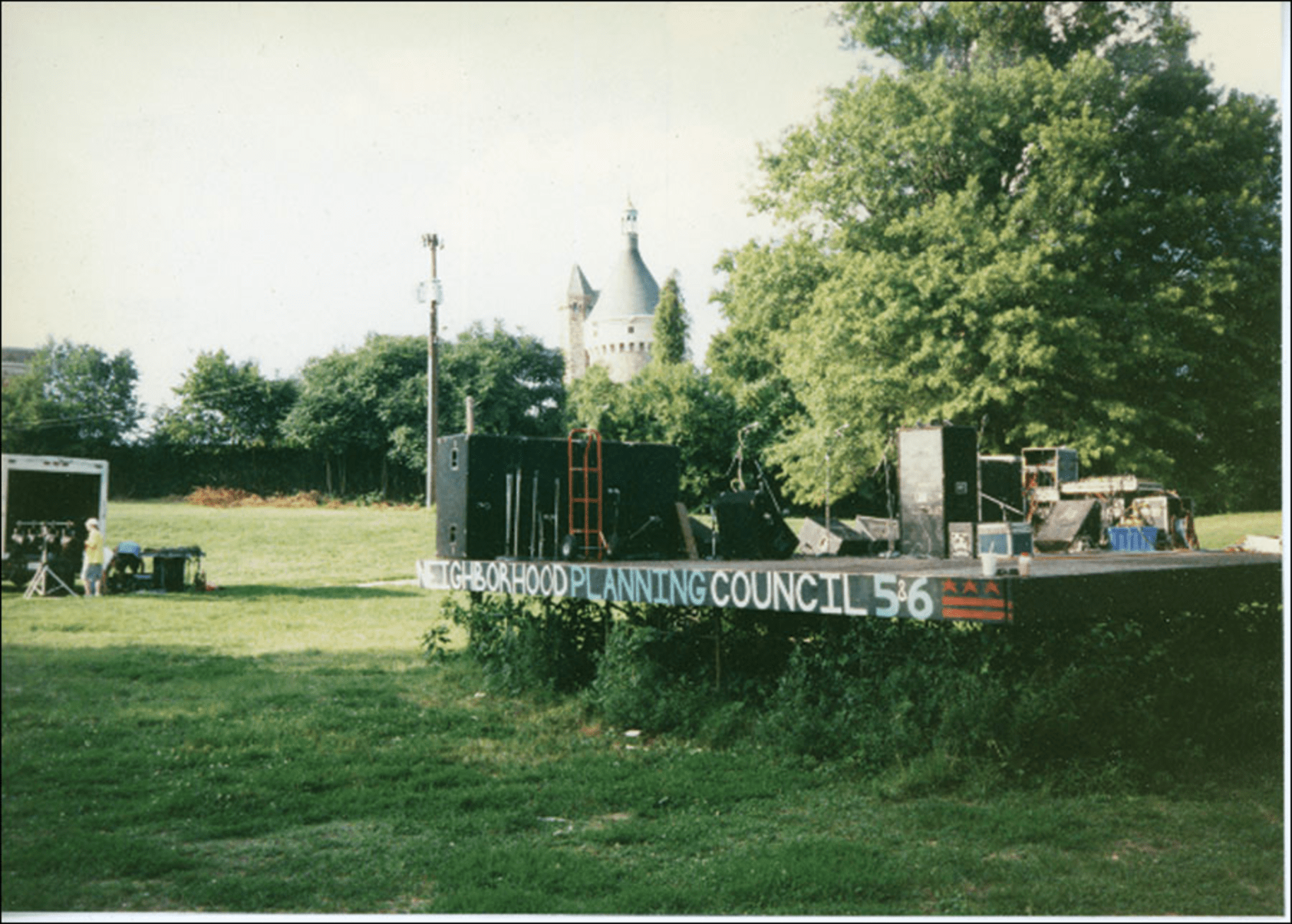 Fort Reno stage, circa 1997
