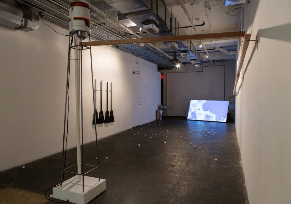 """Brian Davis' """"Try and Try Again,"""" one of Flashpoint's latest exhibitions."""
