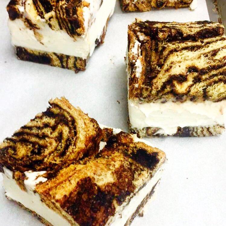 Photo of babka ice cream sandwiches courtesy of On Rye