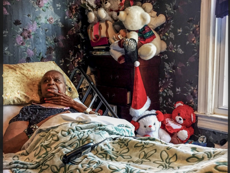 Delores Mayfield, a Medicaid home-care beneficiary whose income is now too high for the program