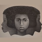 """Left Which Way"" by Elizabeth Catlett"