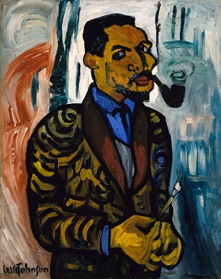 """""""Self-Portrait with Pipe"""" by William H. Johnson (1937)"""