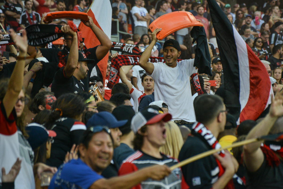 D.C. United supporters at RFK Stadium last fall