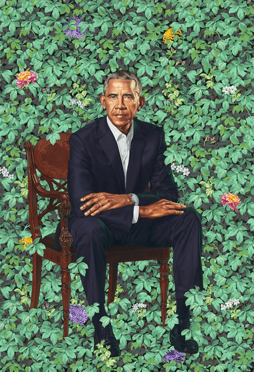 """Former President Barack Obama"" by Kehinde Wiley"