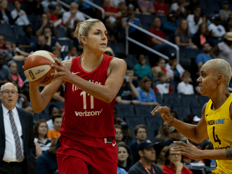 Elena Delle Donne playing against the Indiana Fever on May 20, 2018