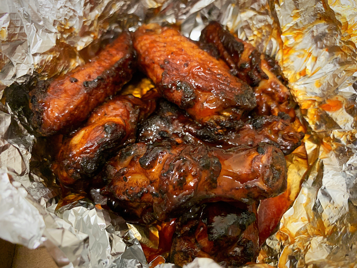 Photo of Papa Johns mambo sauce wings by Laura Hayess mambo sauce wings by Laura Hayes