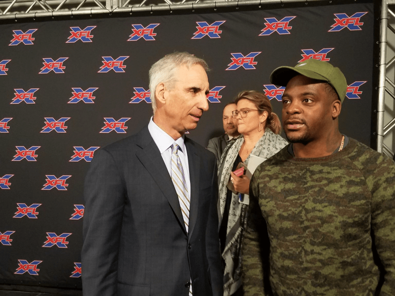 Oliver Luck and Clinton Portis
