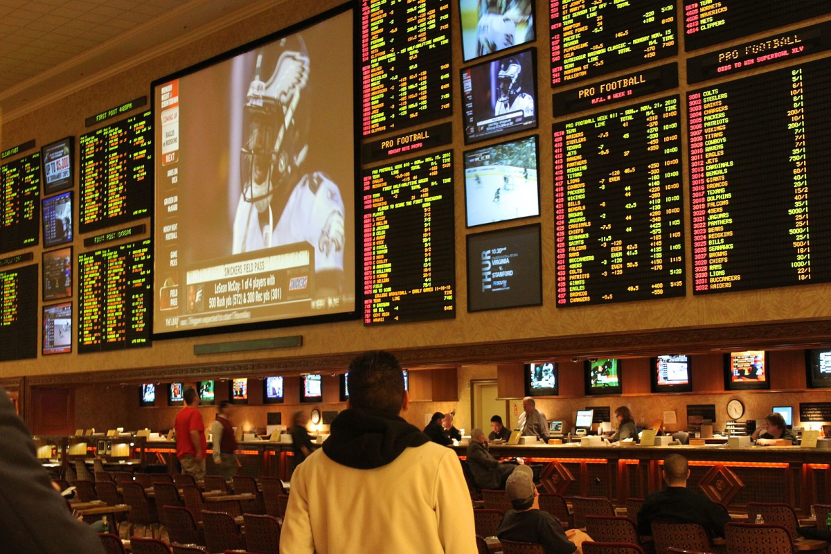 Odds boards at a race and sports book in Las Vegas