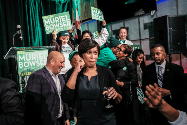 Mayor Muriel Bowser following her 2018 re-election victory