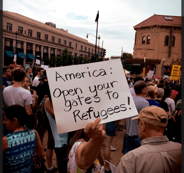 A rally against ICE in Columbia Heights on July 16, 2018, shortly after multiple arrests in the same neighborhood.