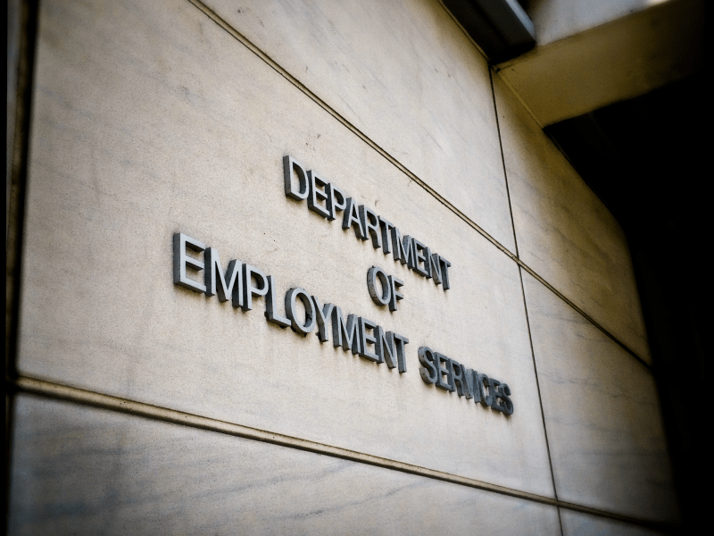 Exterior of D.C.'s Department of Employment Services headquarters