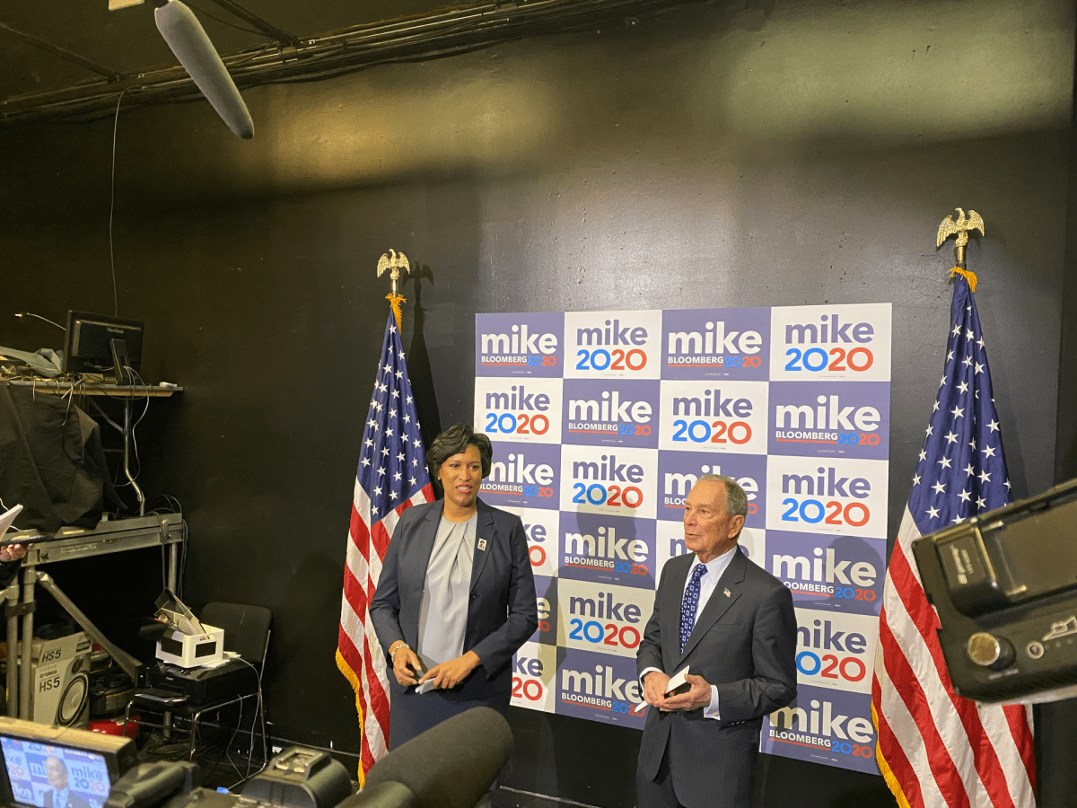Mayor Muriel Bowser endorses Mike Bloomberg for president.