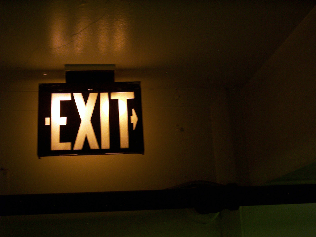Exit by InertiaCreeps is licensed under CC BY-NC 2.0