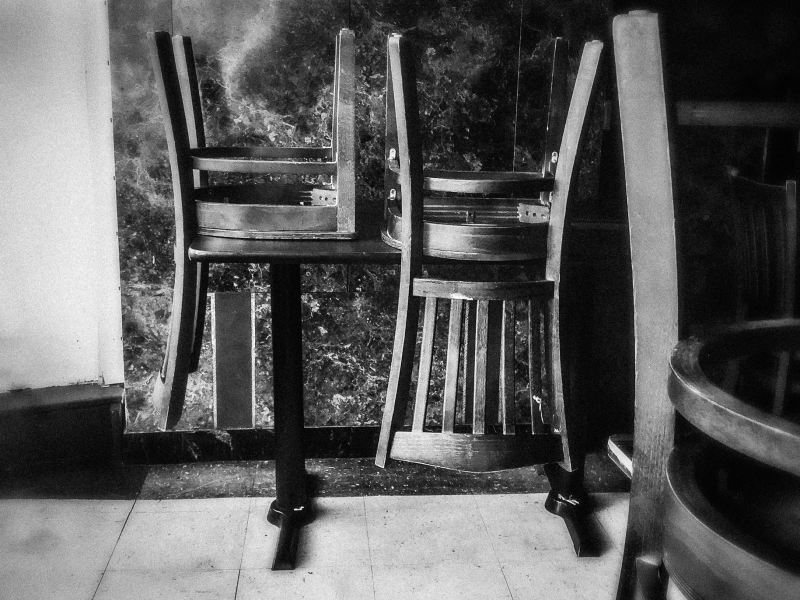 upside down chairs