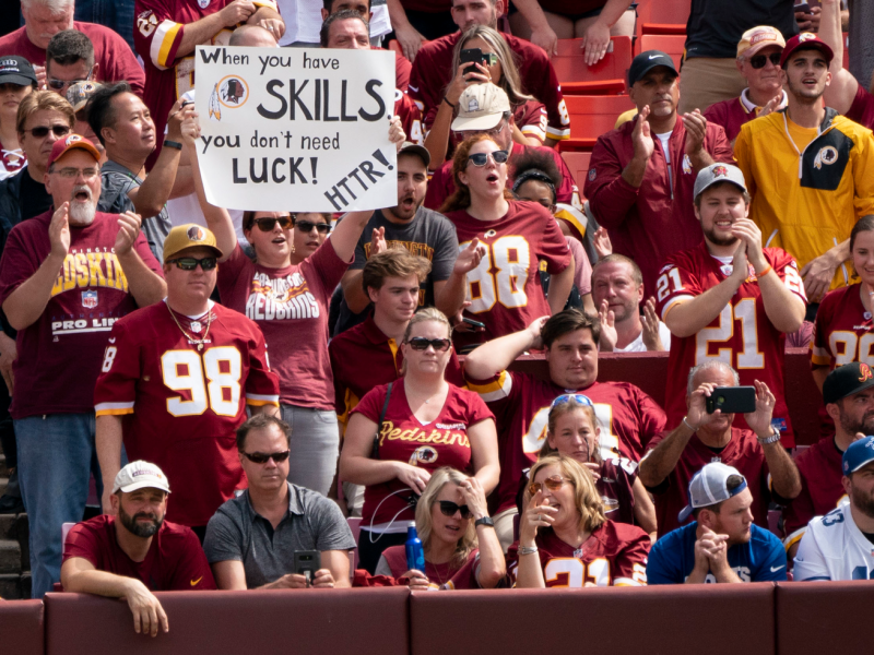 Fans at FedExField in 2018