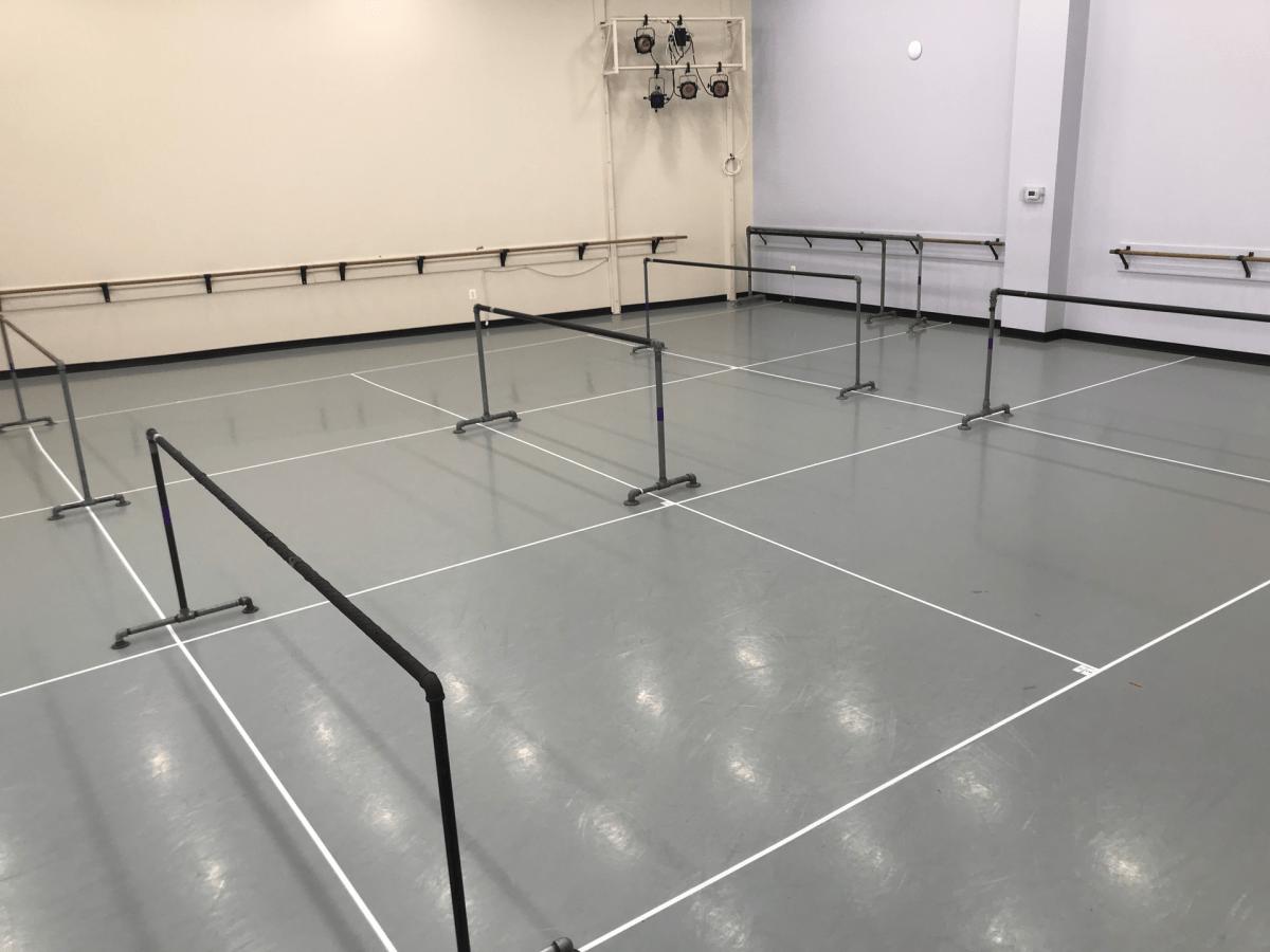 A Maryland Youth Ballet studio prepped for dancers return. return.