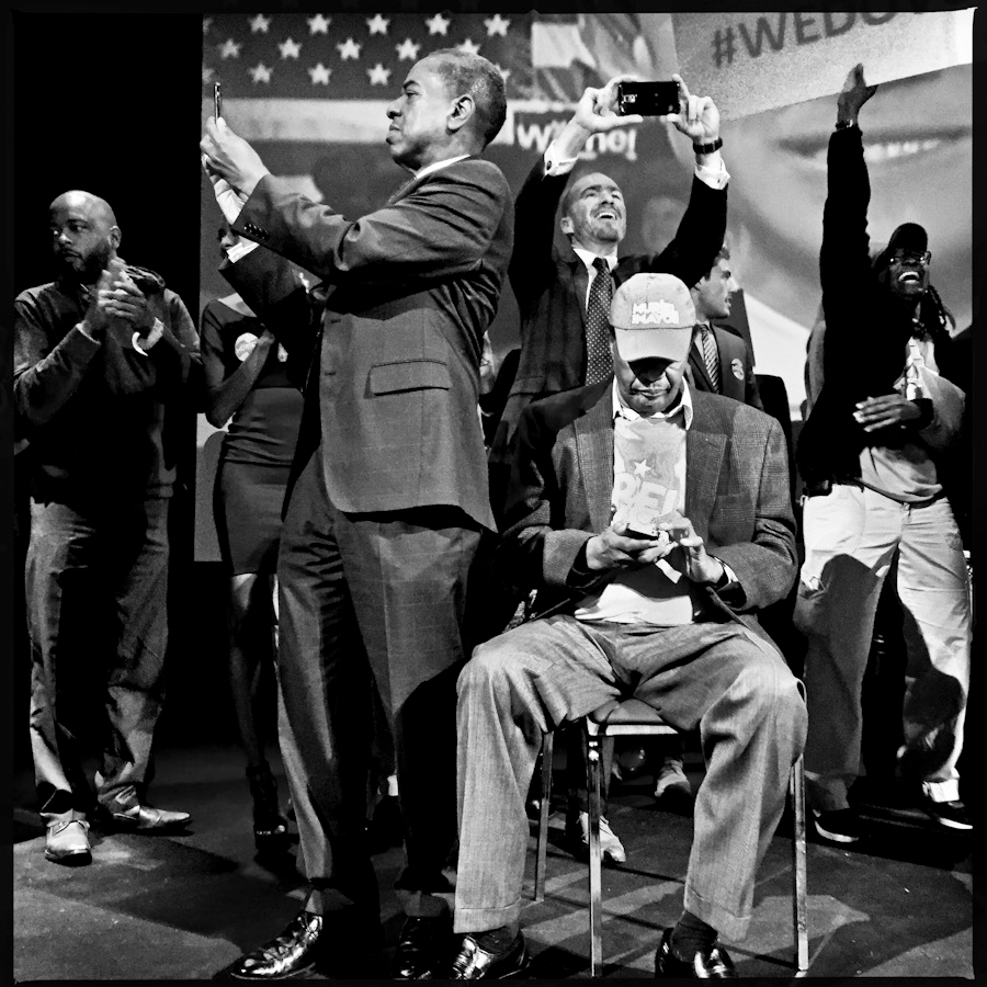 Vincent Orange (left) at Mayor Muriel Bowsers 2014 victory party with Marion Barry (seated).s 2014 victory party with Marion Barry (seated).