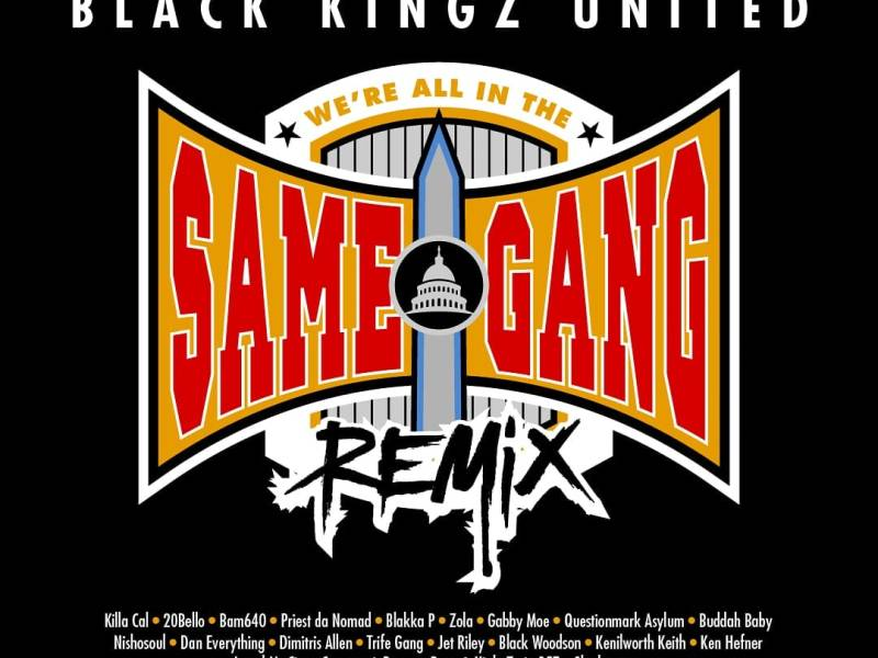 """Single art for """"We're All In The Same Gang"""" Remix"""