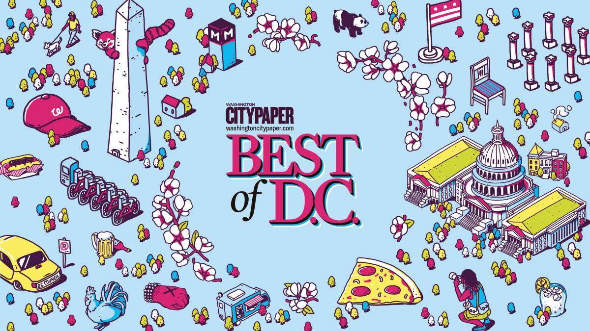 Best of D.C. with D.C. icons surrounding it