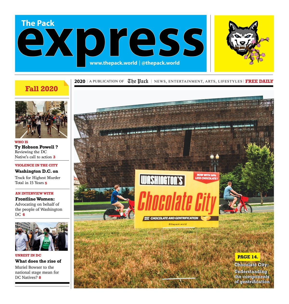 The cover of The Pack's Express.