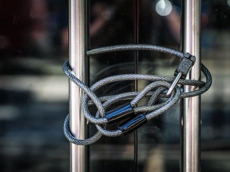 Locked business door