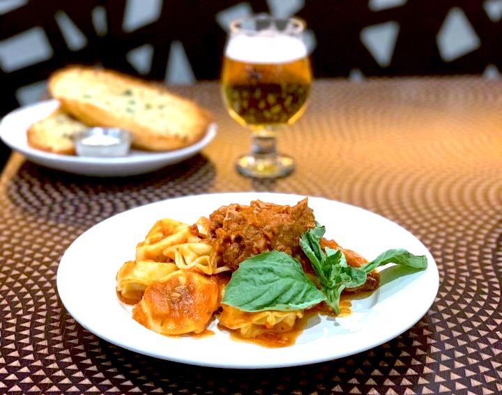 Tortellini with Sunday gravy