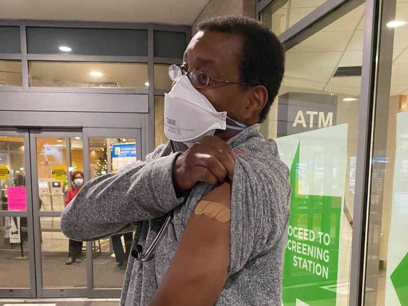 D.C. Resident Raymond Pla, one of the first to get vaccinated