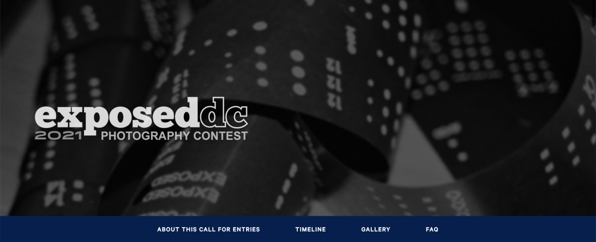 A screenshot of the Exposed DC photography contest page.