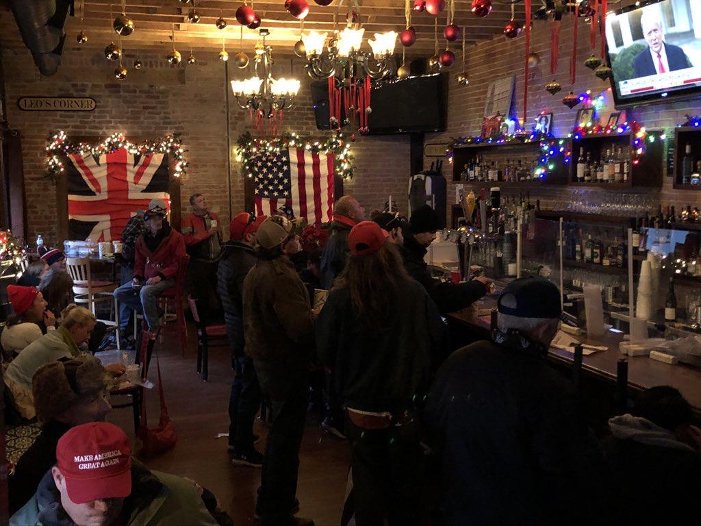 Customers inside The Alibi on January 6