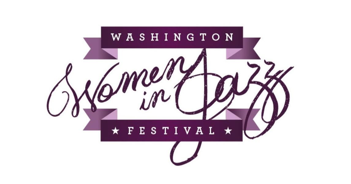 The logo of the Washington Women in Jazz Festival.