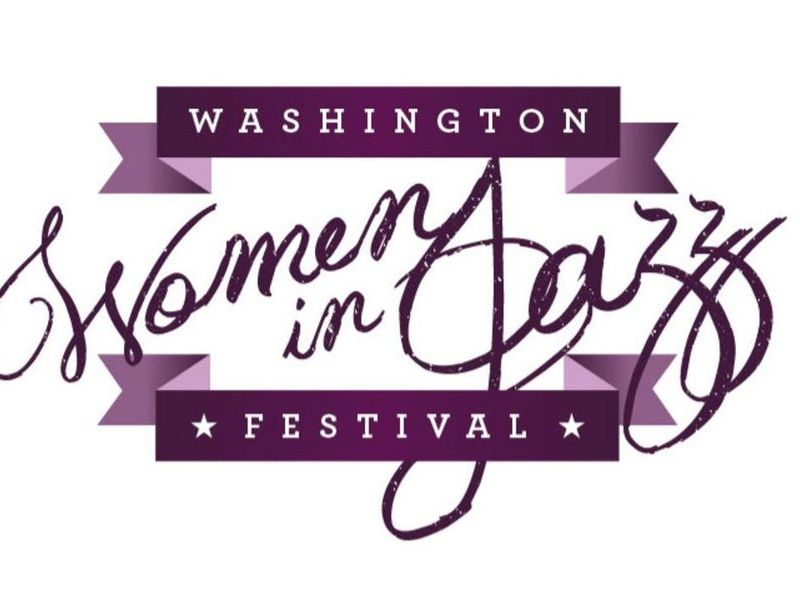 The logo of the Washington Women in Jazz Festival.