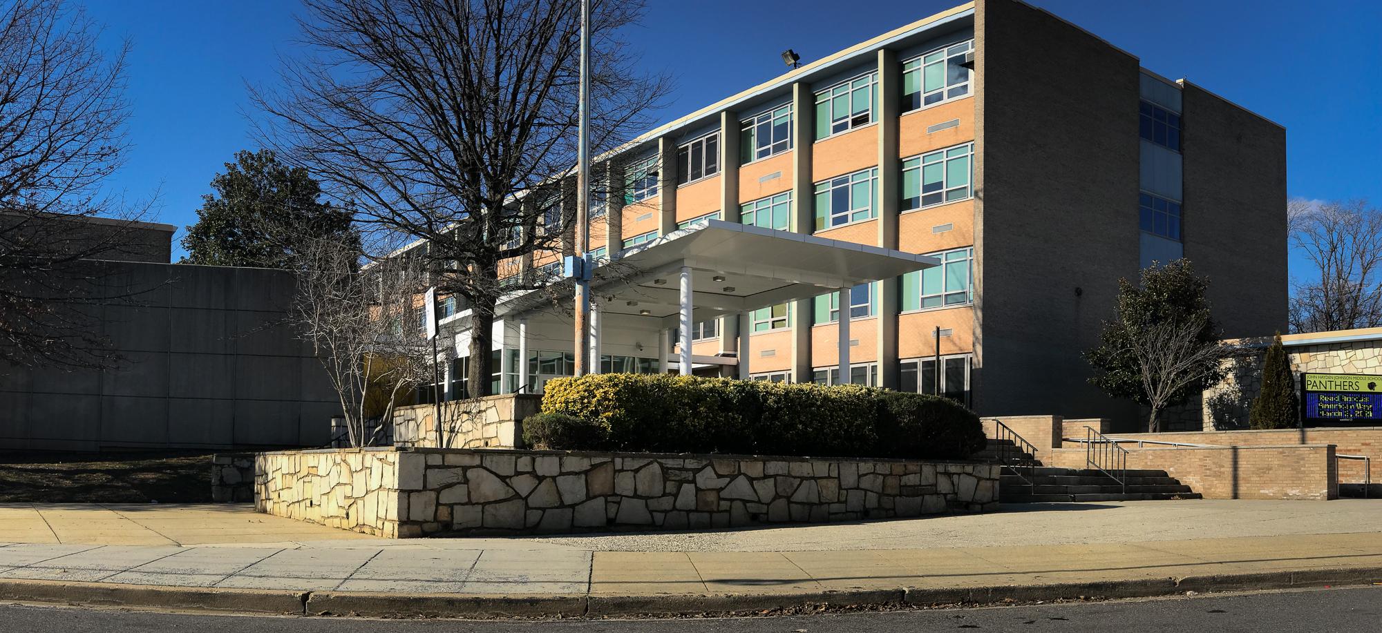 Exterior of John Hayden Johnson Middle School