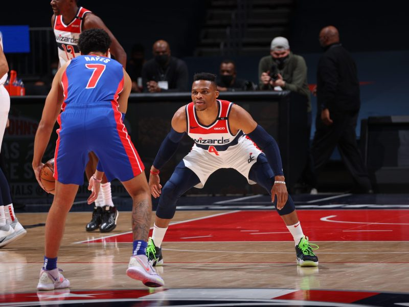 Russell Westbrook playing defense