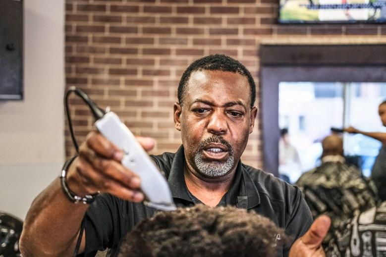 Stoney Quindlen of Cuttin' Up Barbershop