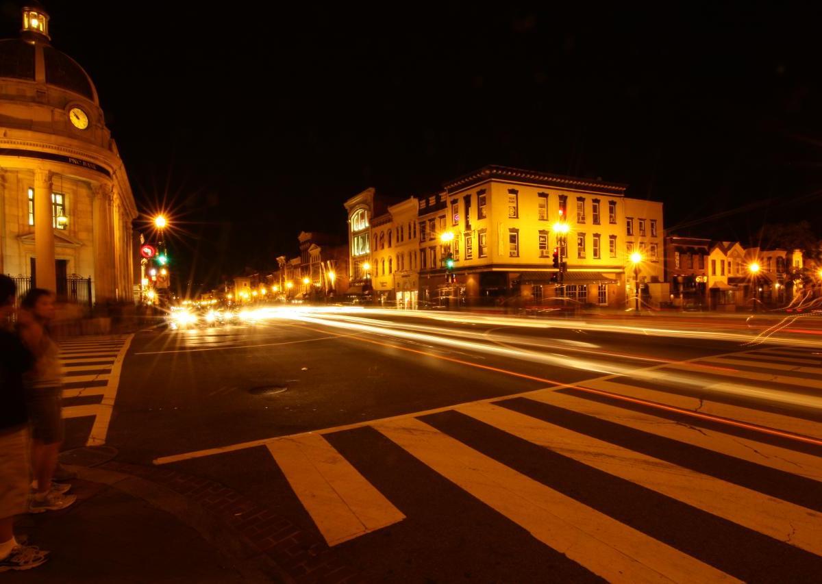 Georgetown at night