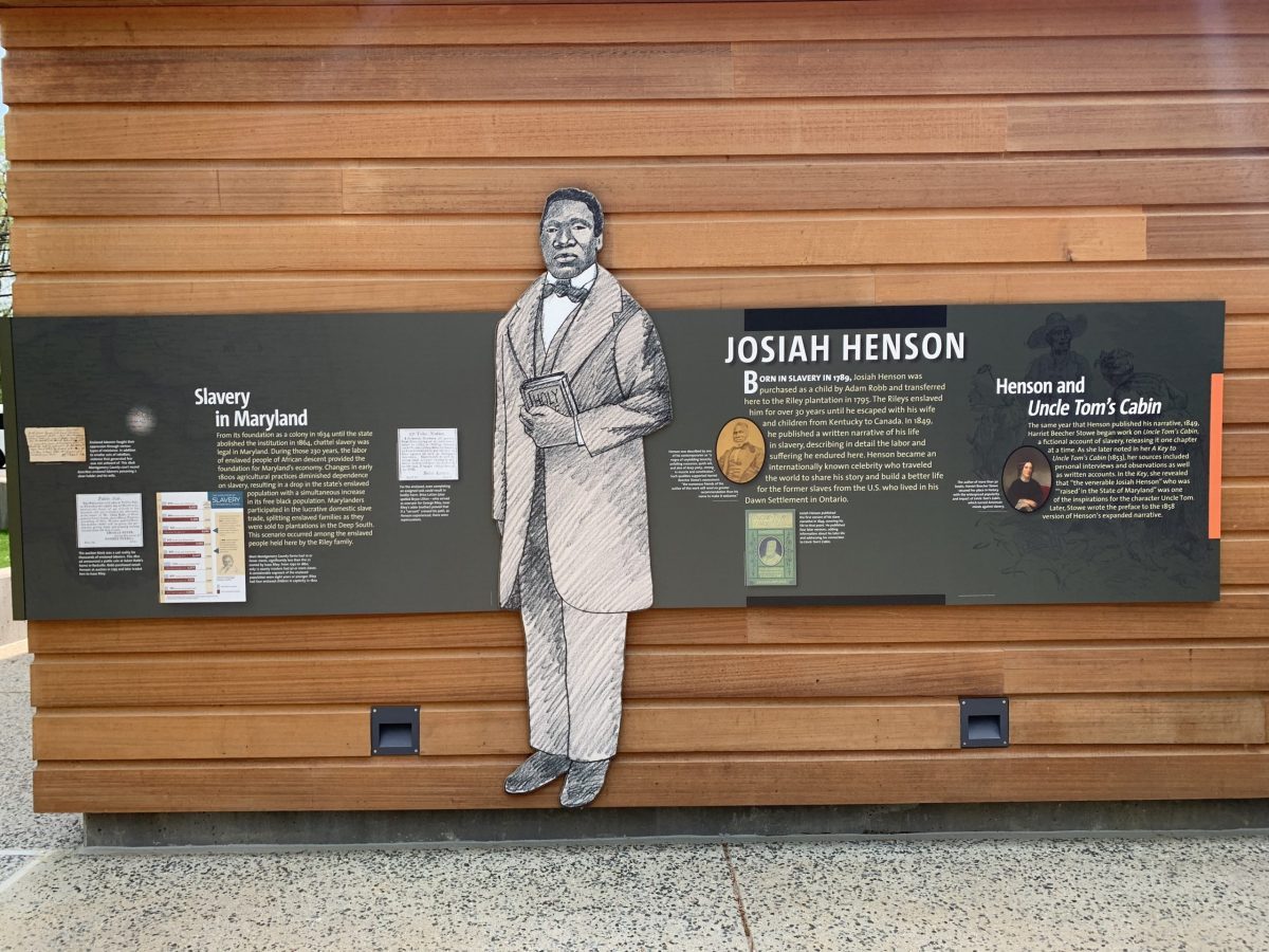 A panel from the Josiah Henson Museum in North Bethesda, Maryland.