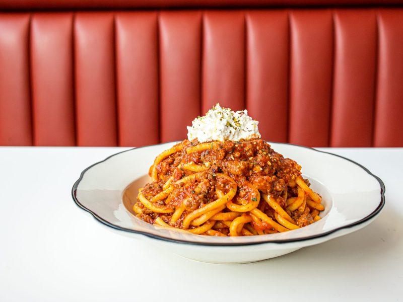 Spicy neapolitan ragu at Caruso's Grocery