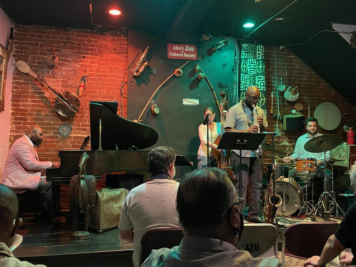 The first night back at Alice's Jazz and Cultural Society, a.k.a. AJACS. AJACS reopens this week.