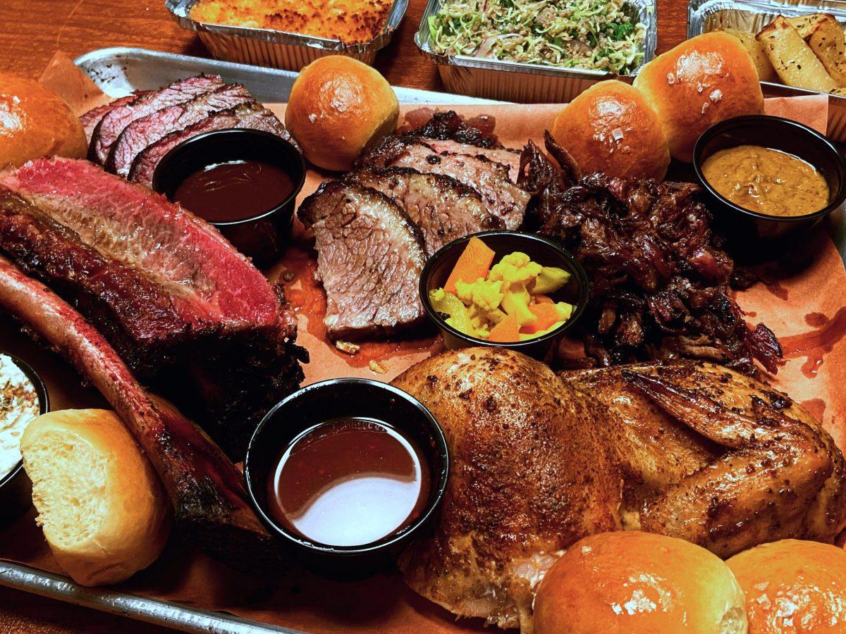Barbecue spread from Chef Jarrad Silver