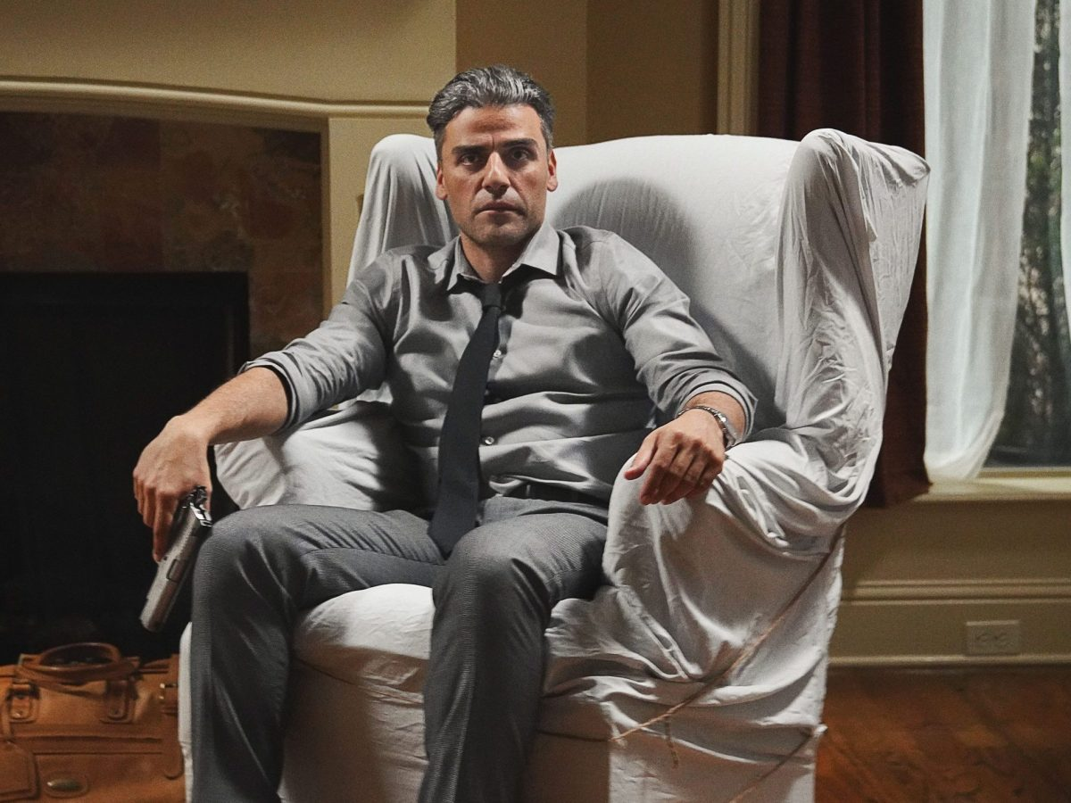 A still of Oscar Isaac from The Card Counter.