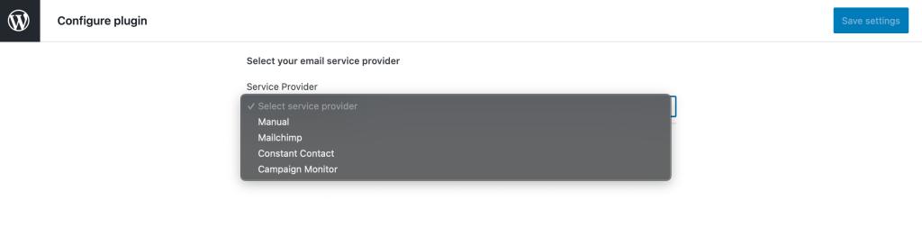 Newspack Newsletters API settings