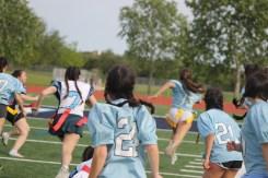 Junior, Chantel Pike runs it in for a touchdown.