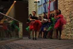 The fairies prepare their beginning can can dance. Photo by Arianna Michaud