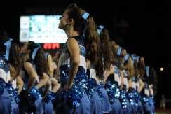 The dance teams took the field during the half on September 21. Photo by Adelin Blackmon