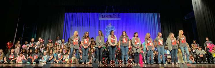 "10 different school participated on the ""Fashionable"" fashion show."