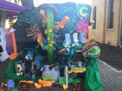 Kruger middle school submitted this ofrenda into the contest at the festival. They chose to feature those who they looked up to.